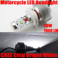 Free Shipping, 2014 New Arrival, H4 High/Low 20W H6 CREE LED 1900LM, White Motorcycle Headlight Motor LED Conversion Kit Light