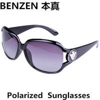 2014 New  Women Polarized Sunglasses  Classic fashion woman Sun glasses UV 400  shades oculos with case black 1017A