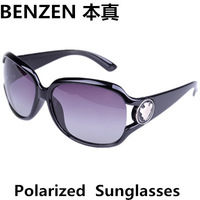 2014  Women Polarized Sunglasses  Classic Fashion Female Sun glasses UV 400  Shades Oculos With Case Black 1017A