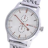 Famous Curren Sport Quartz Stainless Steel Watch Calendar Men For Russia Elegant Luxury Relojes relogio Masculino Free Shipping