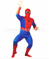 (Mix order 10% off) Halloween Adult's clothing, lycra spandex Spider Man elastic tights suit, cool movie scene cosplay costumes