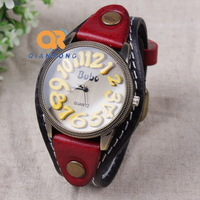 2014 New Cow leather Bracelet Watches Wrap Winding Ladies Women's Vintage Wrist watches