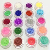 20 Mixed Colors Eye Shadow Makeup Powder Pigment Glitter Mineral Eyeshadow 40pcs/set