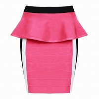 New Arrival Bodycon Skirts Bandage Miniskirts High Quality Women Slim Pleated Skirt Free Shipping