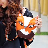 2014 Women's Handbag Trend Vintage Owl Fox Bag Mini One Shoulder Cross-body Small Bags Women Messenger Bags Free Shipping