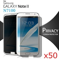 Anti-Spy Protective Film for Samsung Galaxy Note 2 N7100 Premium Privacy Screen Protector Phone Film 50pcs/lot