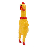 Screaming Chicken Style Rubber Toy for Dogs (S)