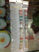 H019  Wholesale flower muslim hijab pin islamic scarf pins 12 piece in one pack 10 pack in one lot fast delivery