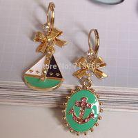 2014 new fashion  The new anchor ear clip fashion jewelry long earrings gold earrings