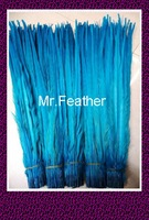 Free shipping 200pcs Turquoise Blue Pheasant Tail Feather 50-55cm 20-22inch Opera chicken feather lady amhurst pheasant Feathers