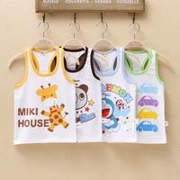 Free shipping * Slub cotton T-shirt vest * summer clothing * child baby boys children's wear * 2 - 6 years old