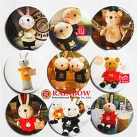 4.5cm Korea METOO Rabbit Button Pins Badge Novelty Cartoon Backpack Decorations Clothing Accessories Wholesale 48 pcs