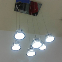 6 Lights Modern Acrylic Led Cup chandelier  , Super Bright  Warm White  White  AC220V & 110V Modern Home Lights