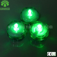 12pcs a lot / 6 lots in a box/green/2014 MINKI factory wholesale battery operated tea lights