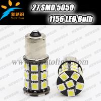 No Error canbus 1156 BA15S P21W LED 27 SMD 5050 Brake Tail reverse Turn Signal Light Bulb Lamp 12V white blue yellow red green