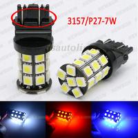 factory sell canbus 3157 Led lamp,12V 3.6W 510Lm 27 SMD 5050 led backup/reverse/turn signal lighting bulb 3157 base for all car