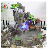 Feng shui ball rockery water fountain decoration watertruck bonsai humidifier water features fish tank crafts