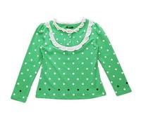 Cute Girls Long Sleeve Bottoming Polka Dot Shirts Size 4-11 Years polka dot t-shirt brand t children clothing free shipping