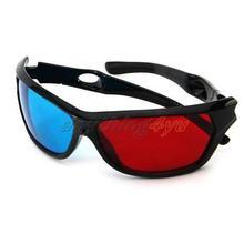 sólo plasma tv rojo azul anaglifo película dimensional enmarcado visión gafas 3d(China (Mainland))