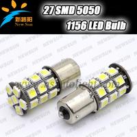 Free shipping car led s25 ba15s 1156 p21W 27 led smd 27smd Turn light bulb lamp WHITE 12V 1156 led bulb with canbus error free