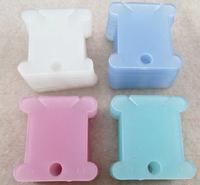 FREE Shipping Plastic Cross Stitch Floss Thread Reel Spool Organizer, 100pcs/bag