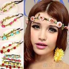 Boho Style Floral Flower Women Girls Hairband Headbands Festival Party Wedding 11LB