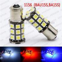 Red Yellow White 27 leds 5050 smd Car LED Light Bulb Lamp 7507 PY21W BAY15s 1156 Amber CANBUS Error Free Led turn Signal DC 12V