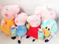 Peppa Pig Family Toys Plush 4Pcs/set George Peppa Daddy Mummy Birthday Gift Kids Brinquedos brand new Free Shipping