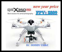 Free shipping by EMS Walkera 2014 NEW QR X350 PRO GPS FPV HD Camera RC Aircraft RC Helicopter Quadcopter for Gopro