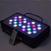 4pcs/lot Remote Control Dimmable Full Spectrum LED Grow Lights / Aquarium Lights For Hydroponic or Coral Reef Tank