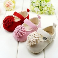 Drop Shipping 2014 New Festival flower Newly Born Infant Baby Girls First Walkers Shoes Sapato Mary jane Crib Shoes 4 Colors