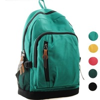 New 2014 Fashion Sport Canvas Women Backpack Girl Lady Student School bag Travel Mochila Bolsas Free shipping