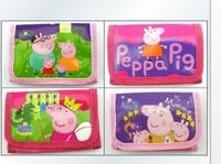 Free shipping 12pcs peppa pig/ masha bear/ monster high /winx club/ cartoon wallet change pocket purse style mixed color 598