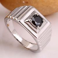 Line-Carve Men Sterling Silver Dress Ring Size 10 Black Onyx Size 10 11 12 13  R523