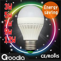 10pcs/lot Wholesale&free ship Led Bulb Lamp E27 220V-260V 3W 5W 7W 9W 12W Led Bulb Cold/Warm White Energy Saving Led Bulb Light