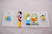 New arrival Simpsons Bart Baby Maggie Eat Logo Transparent hard  Case For iPhone 5 5s,10pcs/lot Free shipping