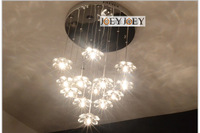 Led  Crystal Chandeliers Light Fixtures K9 Crystal flower Lamp shade Kitchen Lighting LED  13pcs G4 3W Guaranteed100% 9096