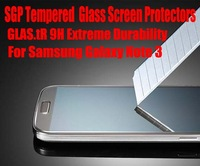 20pcs/lot DHL Free Film For Samsung Galaxy Note 3 SGP GLAS.tR 9H Extreme Durability Tempered Glass Screen Protectors No: S004