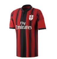 14 15 AC Milan Jersey Top Thailand Quality 2015 AC Milan Soccer Jersey Red Yellow BALOTELLI KAKA Football Shirt Free Shipping