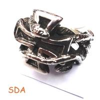 Men's Jewelry Snake Cross Ring Wholesale Vintage Stainless Steel Skeleton Supernova Sales SRM050