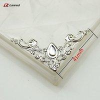 Free Shipping Wholesale 100pcs 41*41MM Silver Decorative Filigree Corners For  DIY Craft  TS10