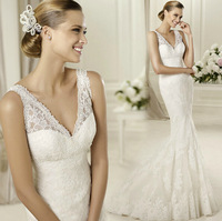 FS1168 Lace royal princess fish tail train wedding dress formal dress new arrival