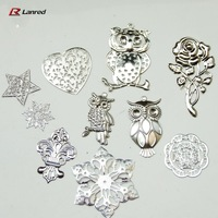Free Shipping 30PCS Mixed Shapes 77mm-30mm Silver Filigree Metal Embellishments for Scrapbooking