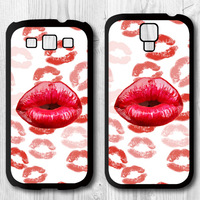 Many Red Lips Protective Black Hard Cover Case For Samsung Galaxy S4 i9500 S3 i9300 P921