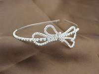 6pcs/Lot New 2014 Free Shipping Wholesale Butterfly Crystal Head band for women Vintage Bridal hair wedding accessories DH159