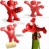 Creative Bar Kitchen wine tool Sex Censorship Happy Man Corkscrew / Bottle Stopper / Bottle Opener 1 pc ( any one type )