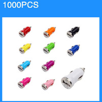 Colorful Mini USB Car Charger For IPhone 5 5c 4 4g 3g For Samsung/HTC 1000pcs/lot Express Shipping