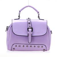 2014 fashion rivet Fluorescent woman messenger bag colorful designer woman totes casual woman shoulder bags ZCB8065