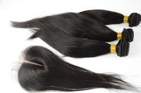 virgin filipino hair 4pcs lot 4bundles unprocessed virgin filipino hair straight with silk lace closure center part