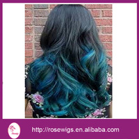 "Free Shipping!5A grade Brazilian Ombre Virgin Hair Body Wave Two Tone Human Hair #1B/blue, Mixed Size10""-30"" 3pcs/lot"